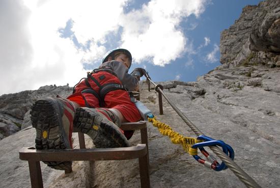 Klettersteig Alpspitze : Alpspitz ferrata und mauerläufer klettersteig