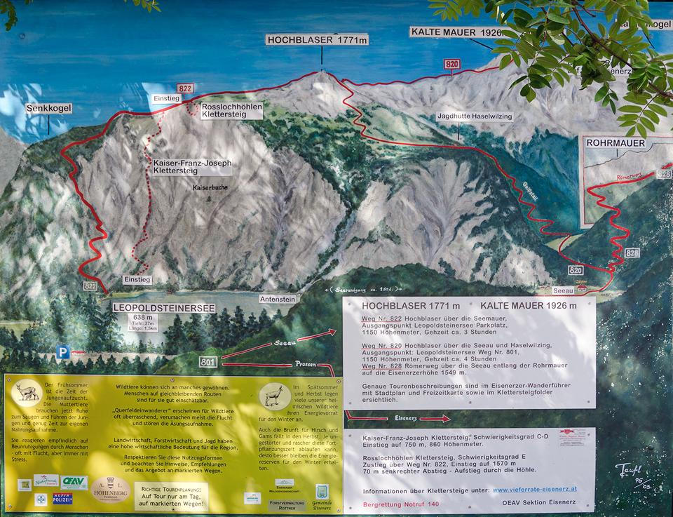 Klettersteig Map : Kaiser franz joseph klettersteig