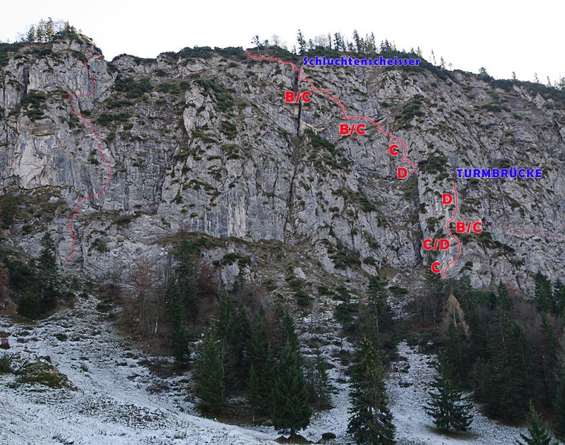 Klettersteig Walchsee : Kaiserwinkel klettersteige walchsee tirol topo