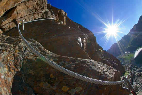 Klettersteig Pitztal : Steinbock pitztaler klettersteig