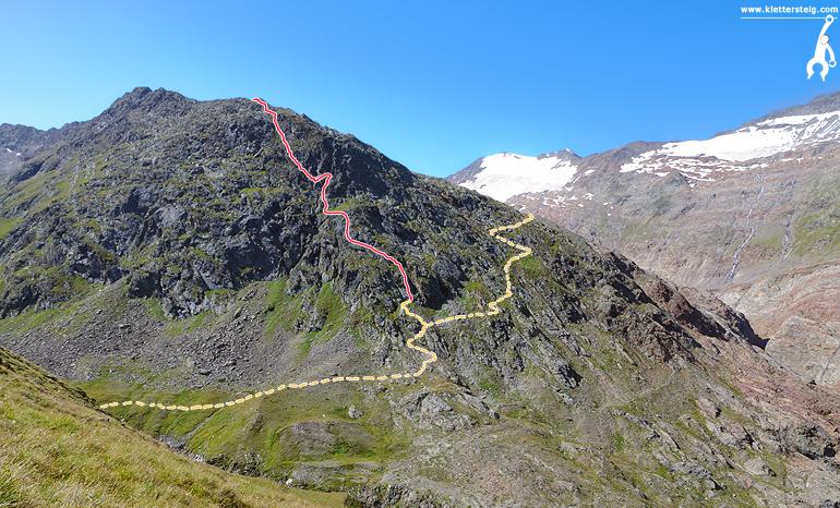 Klettersteig Obergurgl : Schwärzenkamm klettersteig obergurgl