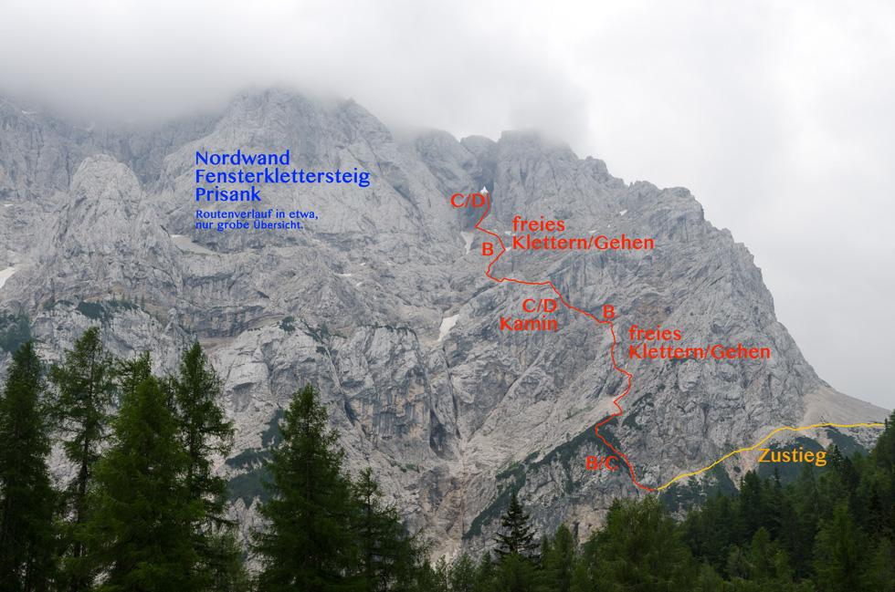 Klettersteig Nassereith : Prisank klettersteig julische alpen