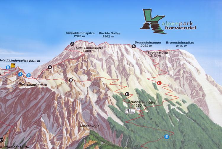 Klettersteig Mittenwald : Mittenwalder klettersteige