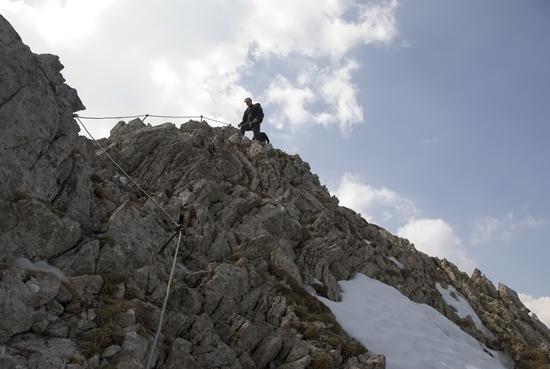 Klettersteig Mittenwald : Mittenwalder klettersteig
