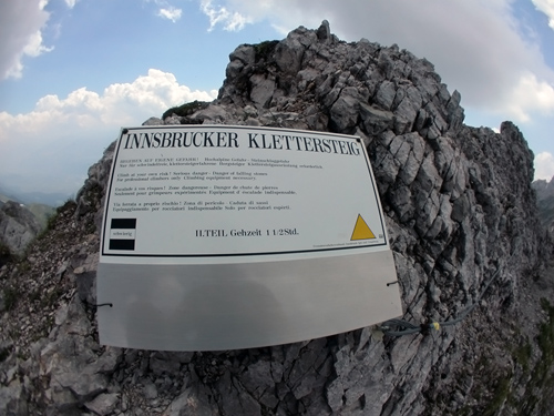 Klettersteig Nordkette : Klettersteig.com ::: frau hitt