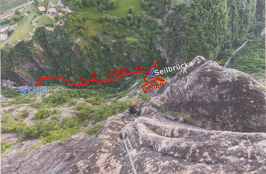 Klettersteig Unterstell : Seilbahn unterstell naturns