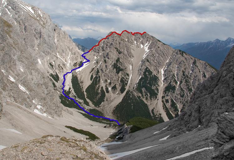 Klettersteig Wankspitze : Klettersteig wank